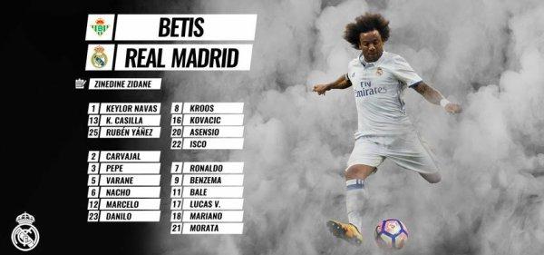 Les joueurs convoqués pour affronter le Betis (14.10.16)