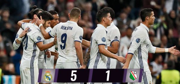 Ligue des Champions : Real Madrid - Legia Varsovia (18.10.16)