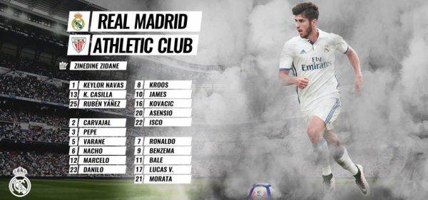 Les joueurs convoqués pour affronter l'Athletic Bilbao (22.10.16)