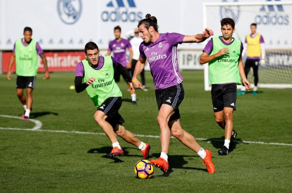 Photo de Gareth Bale à l'entraînement avec le Real Madrid (27.10.16)