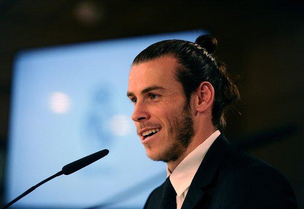 Gareth Bale en conférence de presse après la signature de son nouveau contrat (31.10.16)