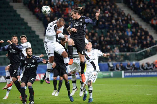 Photos de Gareth Bale pendant le match Legia Varsovie - Real Madrid (02.11.16)