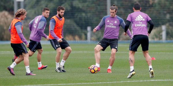 Photo de Gareth Bale à l'entraînement avec le Real Madrid (04.11.16)