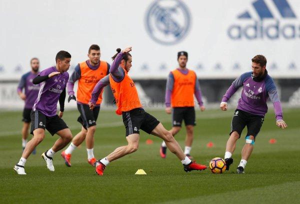 Photos de Gareth Bale à l'entraînement avec le Real Madrid (18.11.16)