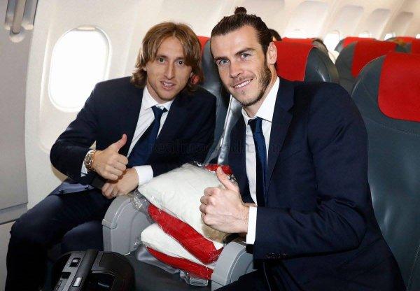 Gareth Bale et l'équipe à Lisbonne (21.11.16)