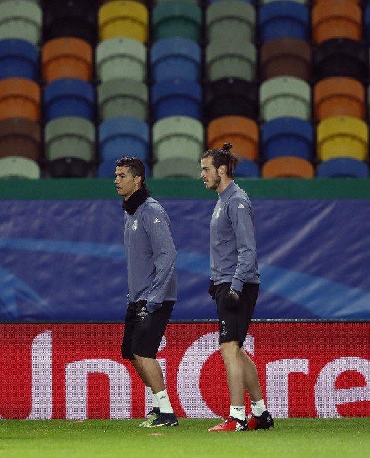 Photos de Gareth Bale à l'entraînement avec le Real Madrid à Lisbonne (21.11.16)