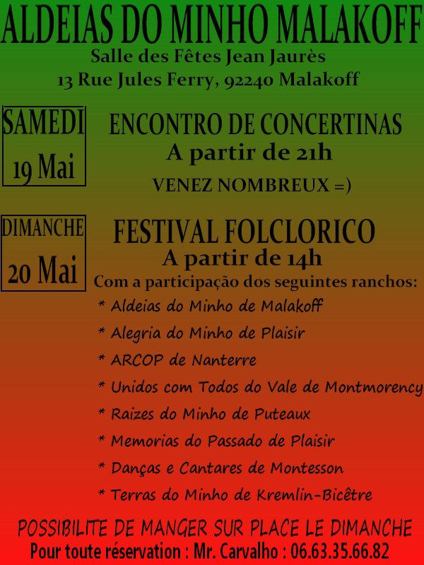 ENCONTRO DE CONCERINAS E FESTIVAL FOLCLORICO
