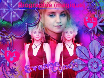 Biograhie Evanna Lynch (magique)