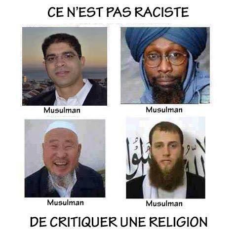 Ce n'est pas raciste de critiquer une religion