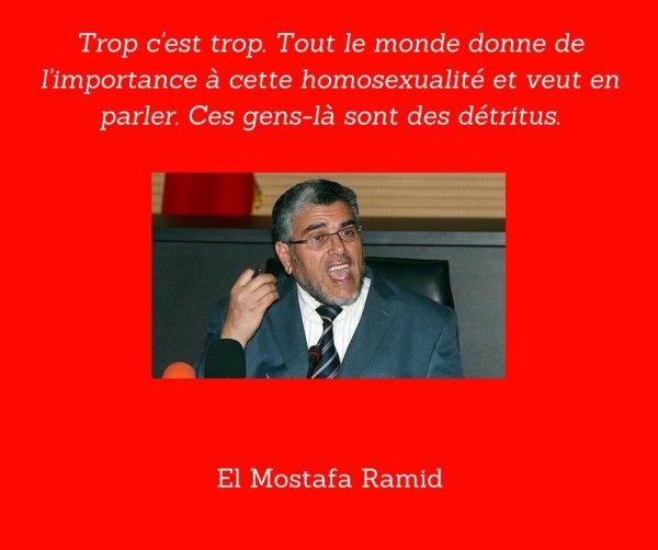 El Mostafa Ramid, crapule homophobe