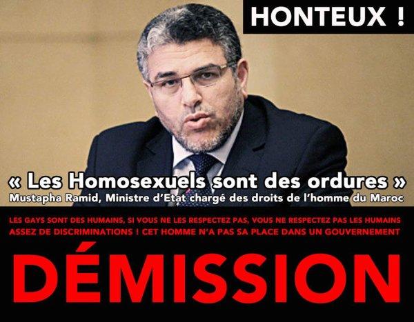 El Mostafa Ramid, la crapule homophobe du gouvernement marocain qualifie les homosexuels de détritus de la société