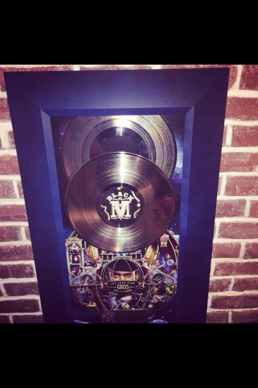 Bravo a black m double disque de platine