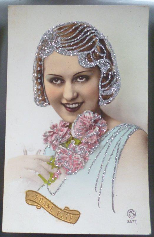 belle photo portrait de femme coiffe artistique fete ste catherine