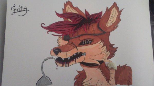 mon dessin de foxy