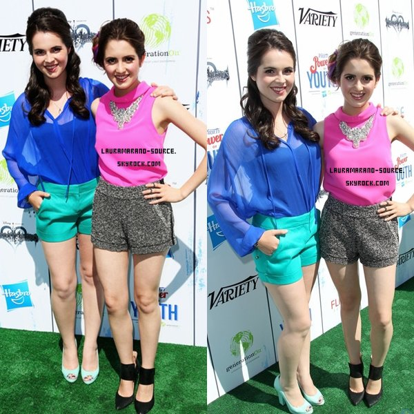 Laura Marano et sa soeur au Variety's Power Of Youth le 27 Juillet 2013