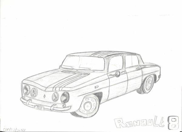 Dessin Renault 8
