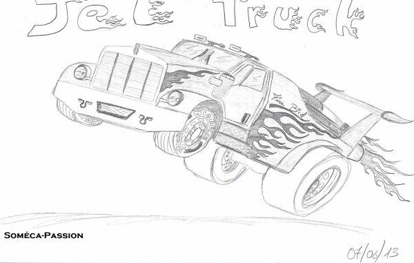 Dessin Monster Coccinelle et Jet Truck