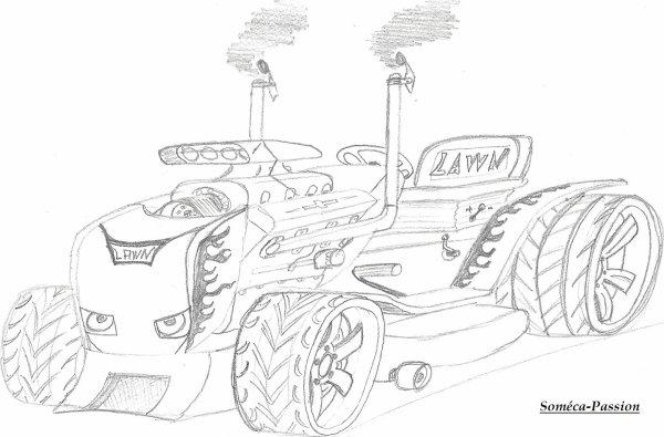 Dessin Tracteur-Tondeuse Tuning