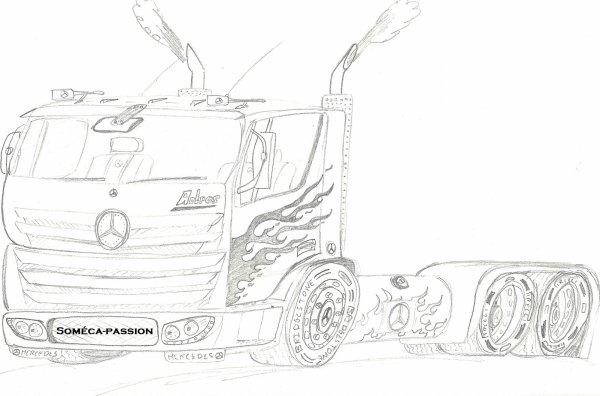 Dessin Camion Mercedes