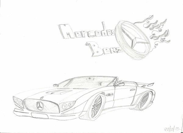Dessin Mercedes
