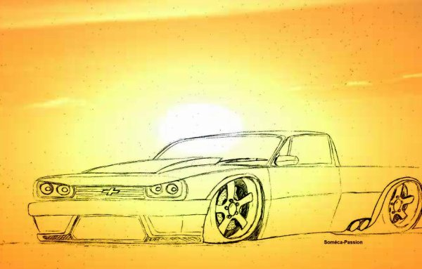 Dessin Mini-Truck Chevrolet