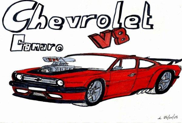 Dessin Chevrolet Camaro
