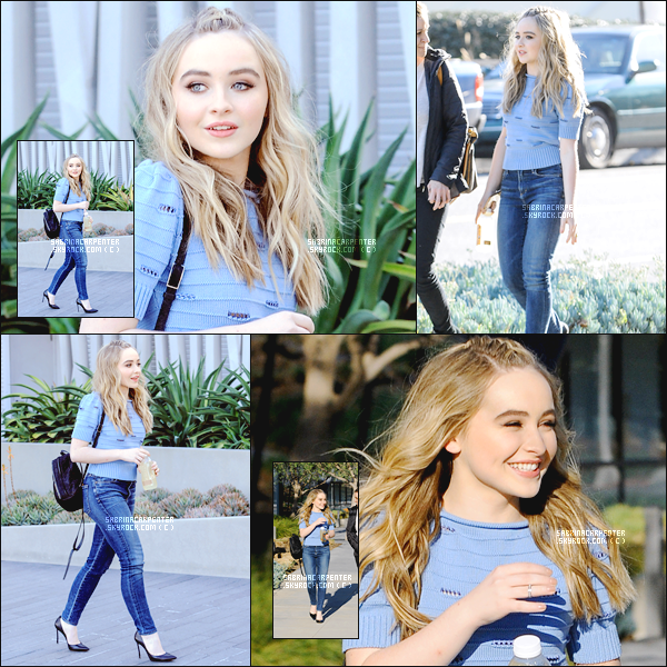 22.02.2016 - Notre belle Sabrina A. Carpenter à était vue arrivant à l'immeuble Facebook seule à Los Angeles.