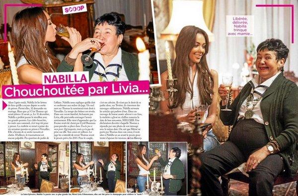 - 09/01/2015 : Premières photos officielle de Nabilla dans le magazine Public.  + Nabilla fait la couverture du magazine Public. Elle à reçu l'équipe du magazine chez sa grand-mère, Livia, à Annemasse.  -