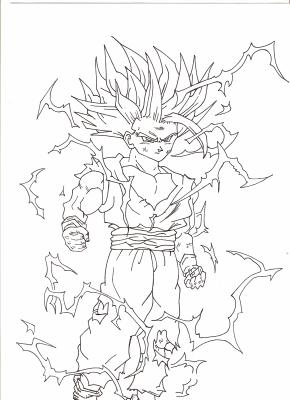 Dbz sangohan super saiyan 2 blog de dessin manga - Sangohan ado super sayen 3 ...