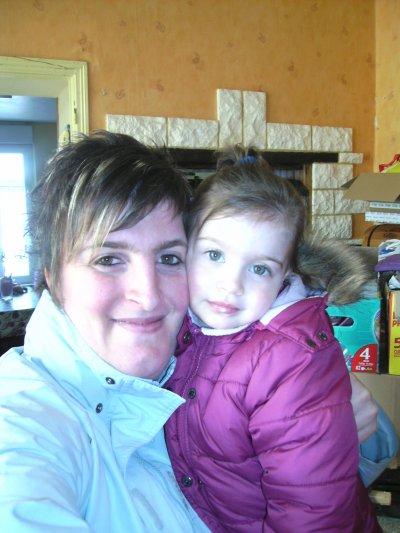 moi et ma fille  et ma nouvelle coupe