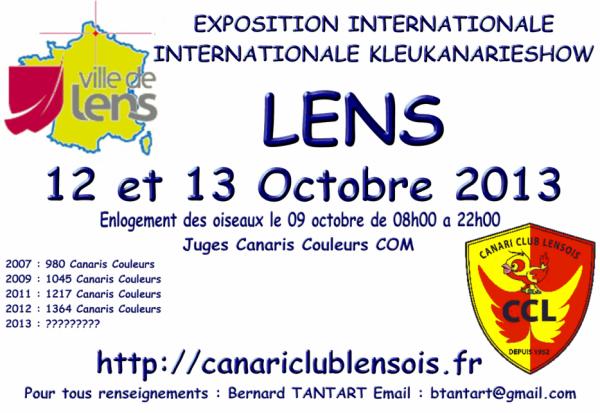 Exposition internationale Lens 12 & 13 octobre 2013
