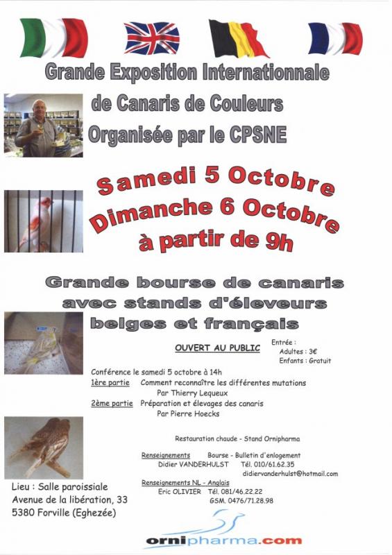 Exposition internationale de canaris 5 & 6 octobre 2013