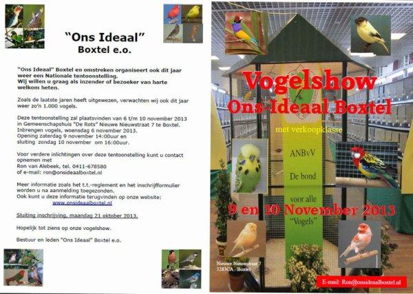 Nationale Tentoonstelling 'Ons Ideaal' te Boxtel (NL) 9 en 10 november