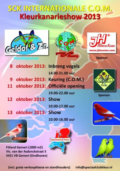 Internationale C.O.M. Kleurkanarieshow 12 & 13 oktober 2013