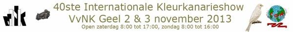 V.v.N.K. - C.O.M. Internationale Kleurkanarieshow 2013 - BRABANTHAL LEUVEN