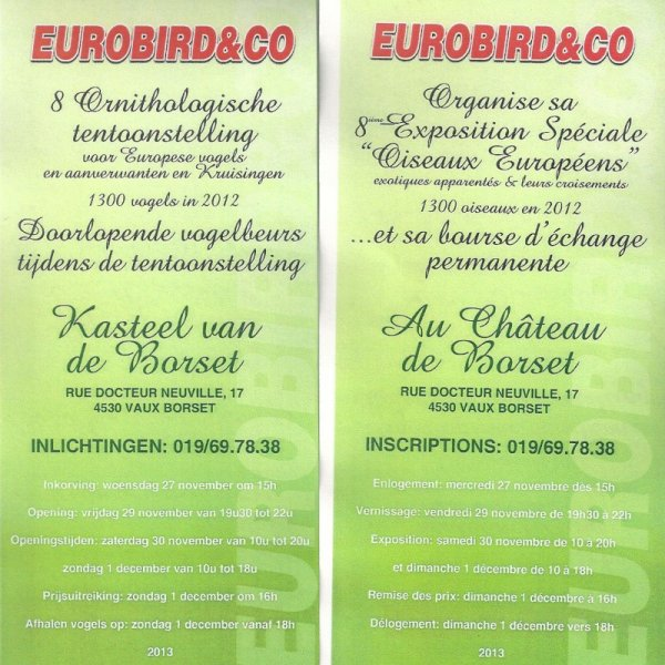 Exposition Eurobird and Co 2013