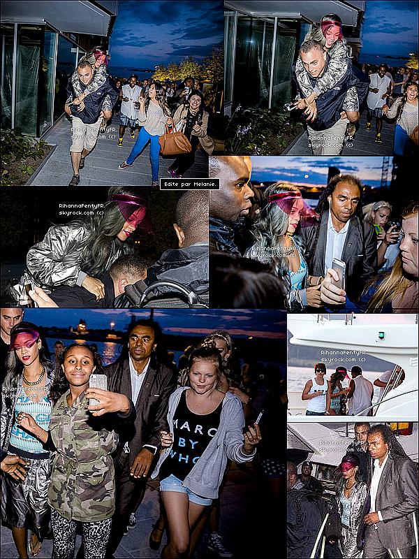 - 24/07/2013 : Rihanna a été vue s'amusant à Olso en Norvège et sur un bateau ! -