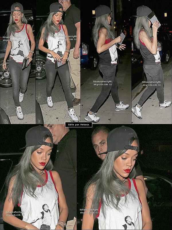 - 29/07/2013 : Rihanna a été aperçue à son restaurant favori, le « Giorgio Baldi » (Los Angeles) -