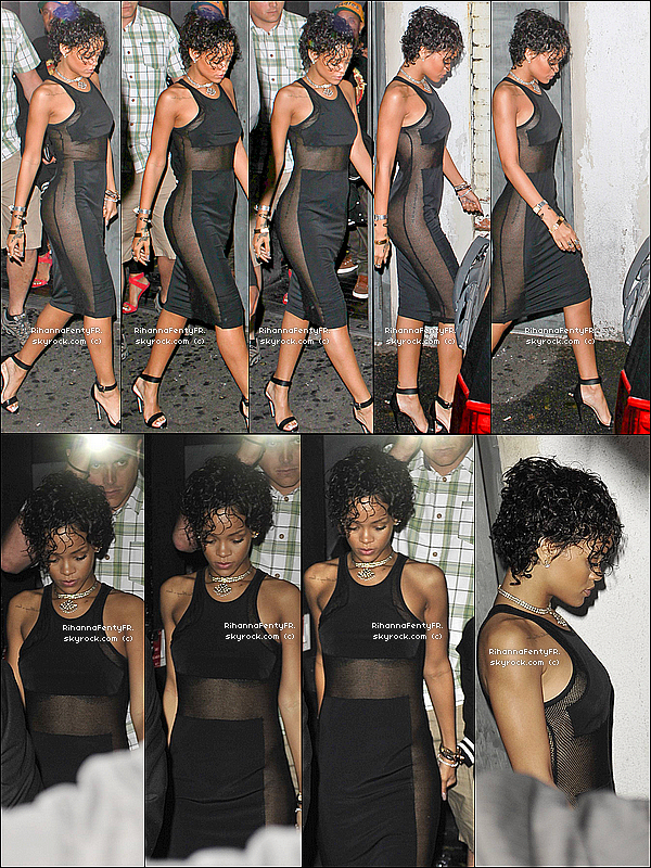 "- 01/08/2013 : Rihanna photographiée au club ""PlayHouse"" à Los Angeles ! TOP ? BOF ? FLOP ?  -"