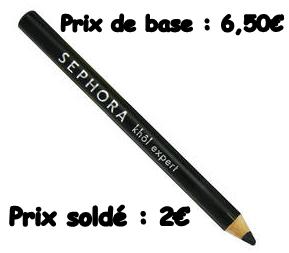 [soldes sephora partie 3] Les crayons