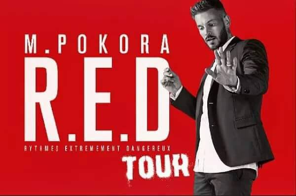 """Dernière date """"RED Tour"""" Matt Pokora"""