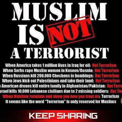 MUSLIM IS NOT A TERRORIST