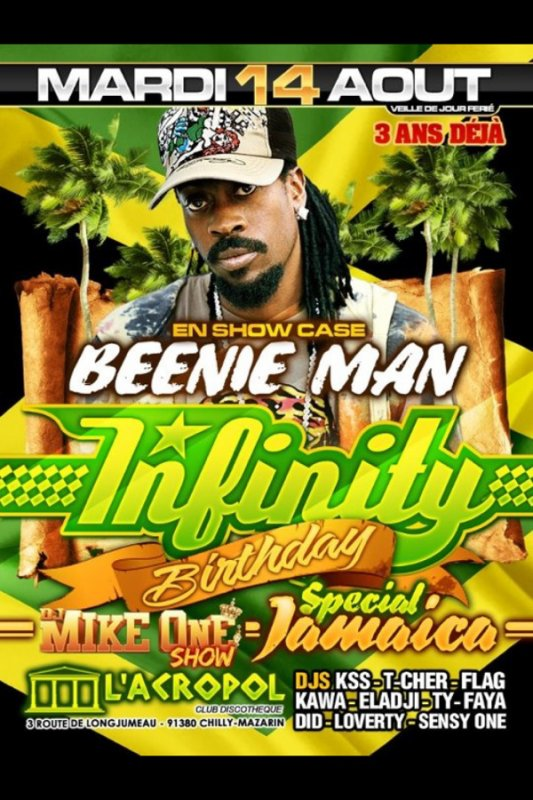 Showcase de BEENIE MAN à l'acropol :) ! INFINITY BIRTHDAY ^^
