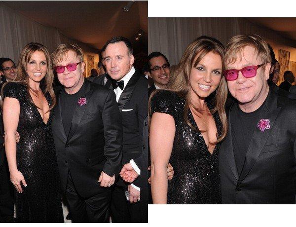 24 Février: Britney à la soirée d'Elton John