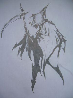 Dessin Representant La Mort la faucheuse - mes dessins