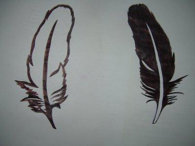 tatouage plumes mes dessins. Black Bedroom Furniture Sets. Home Design Ideas