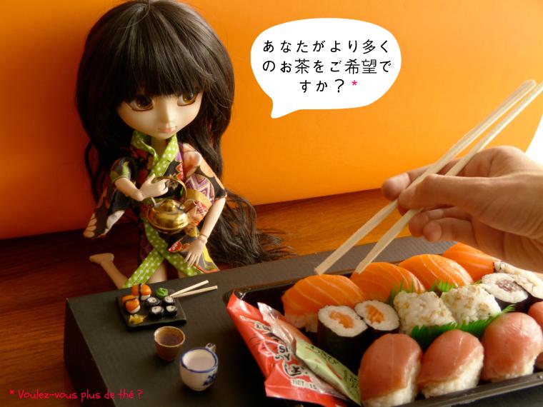 I'm a little sushi ☞ ☞ ☞ eat me !