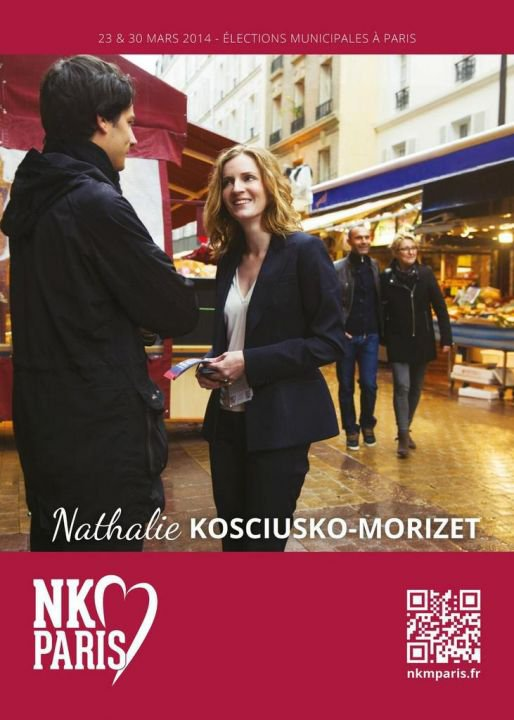 Municipales à Paris : NKM dévoile son affiche de campagne - leparisien.fr