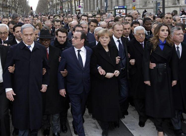 A Paris, «capitale du monde», une marche pour l'Histoire contre le terrorisme - liberation.fr