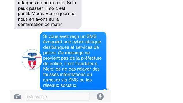 Cyberattaques : non, la police n'a pas envoyé de SMS demandant de ne pas utiliser internet - francetvinfo.fr